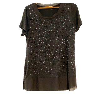 Belldini grey blouse size L
